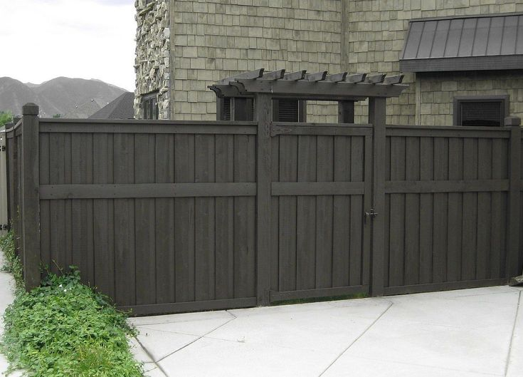 Dark gray fence stain yard pinterest stains grey - Exterior wood paint black ...