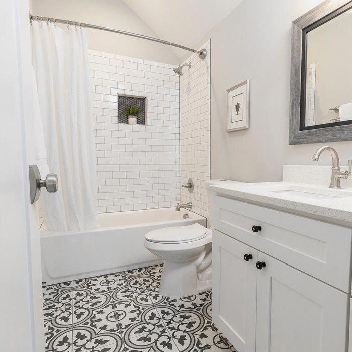 How Much Of My Bathroom Should I Tile Houzz Uk In 2020 Shower Remodel Bathroom Interior Design Inexpensive Bathroom Remodel