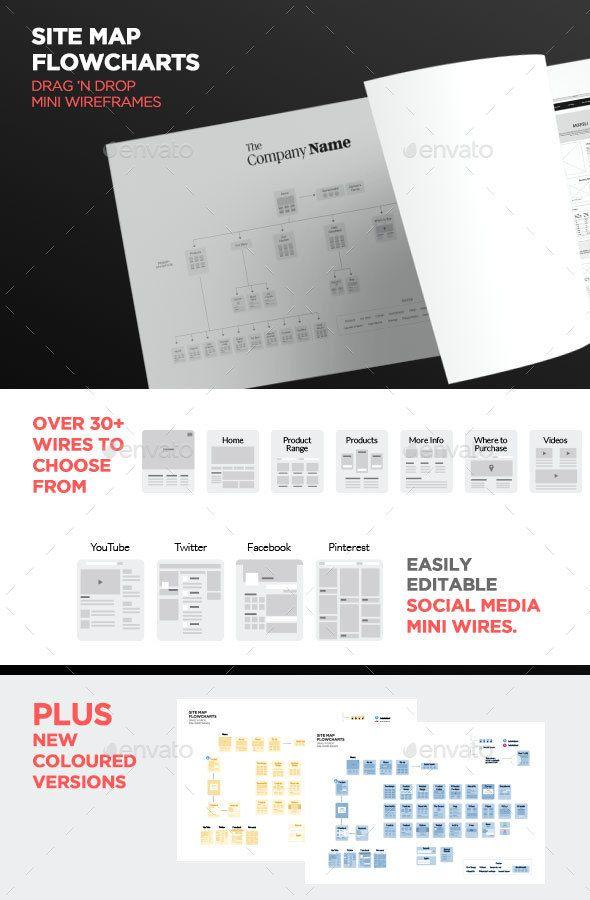 Simple Web Flowchart or Sitemap - Infographics
