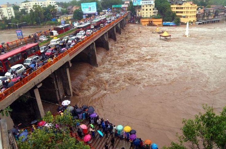 Godavari River Touches Danger Mark in Nashik