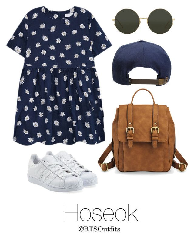 """Picnic Date with Hoseok"" by btsoutfits ❤ liked on Polyvore featuring adidas Originals, Merona, O'Neill and Linda Farrow"
