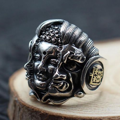 Men's Sterling Silver Breaking the Demon Ring