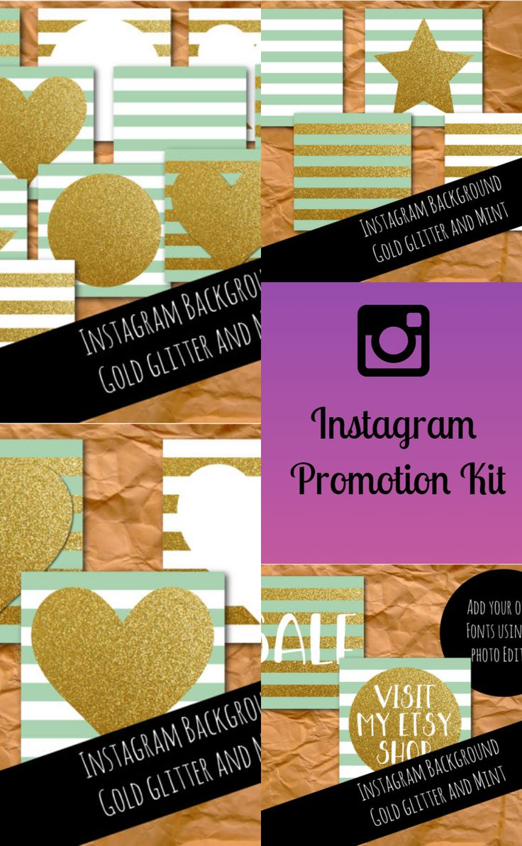 Instagram graphics are a brilliant way to bring your brand message across to your followers. Our set of 10 mint and gold Instagram background graphics are sized perfectly for Instagram at 1080px by 1080px.  #instagram #onlinemarketing #insta #promotion #graphics #ad
