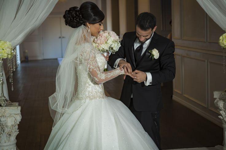 The Rings on this Palestinian Wedding in Sarasota http://celebrationsoftampabay.com/ethnic-weddings/
