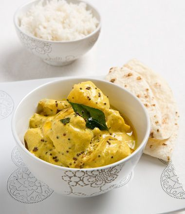 Spiced Fish Curry with Basmati Rice, Mango Chutney and Lime Pickle  MiNDFOOD