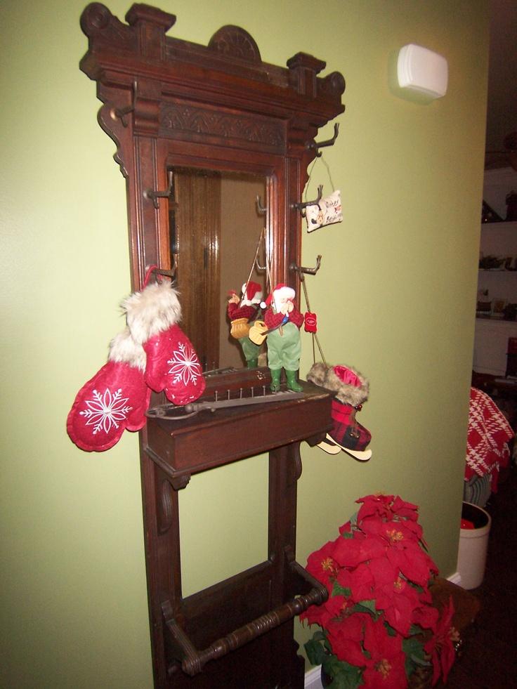Decorated Christmas Fridge Instead Of Tree