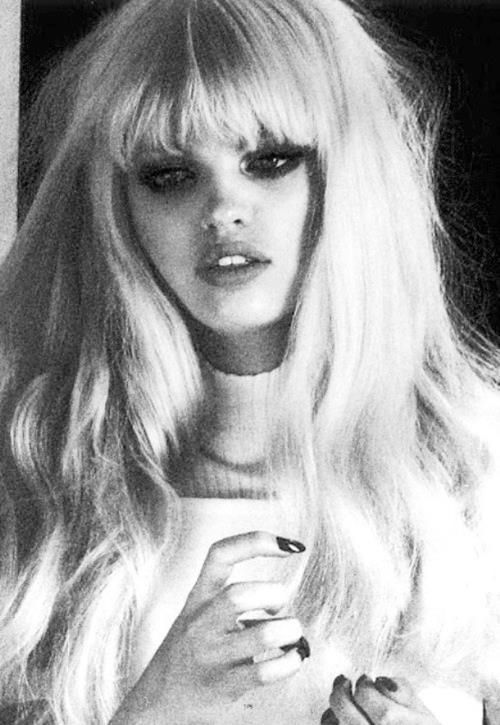 Platinum blonde bangs / long hair- so pretty!! early warning for a lot of bangs spam