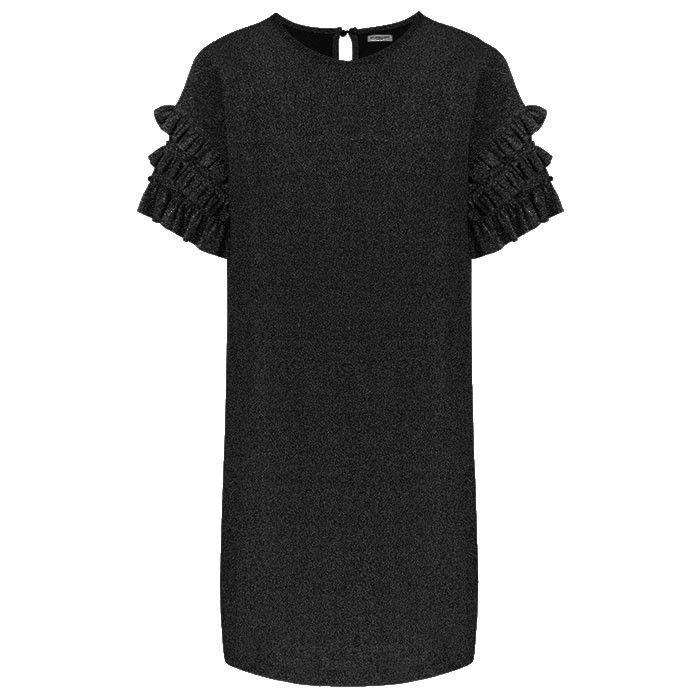 GLITTER RUFFLE DRESS - BLACK | My Jewellery