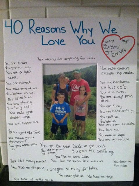 # Reasons we love you Great gift to give as a reminder / pick me up for any day.