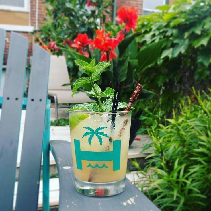 Afternoon Mai Tai #tiki #tikibar #maitai #orgeat #backyard #backyardgarden #tikigarden #rum #mint #cocktail #homebar #homebartender