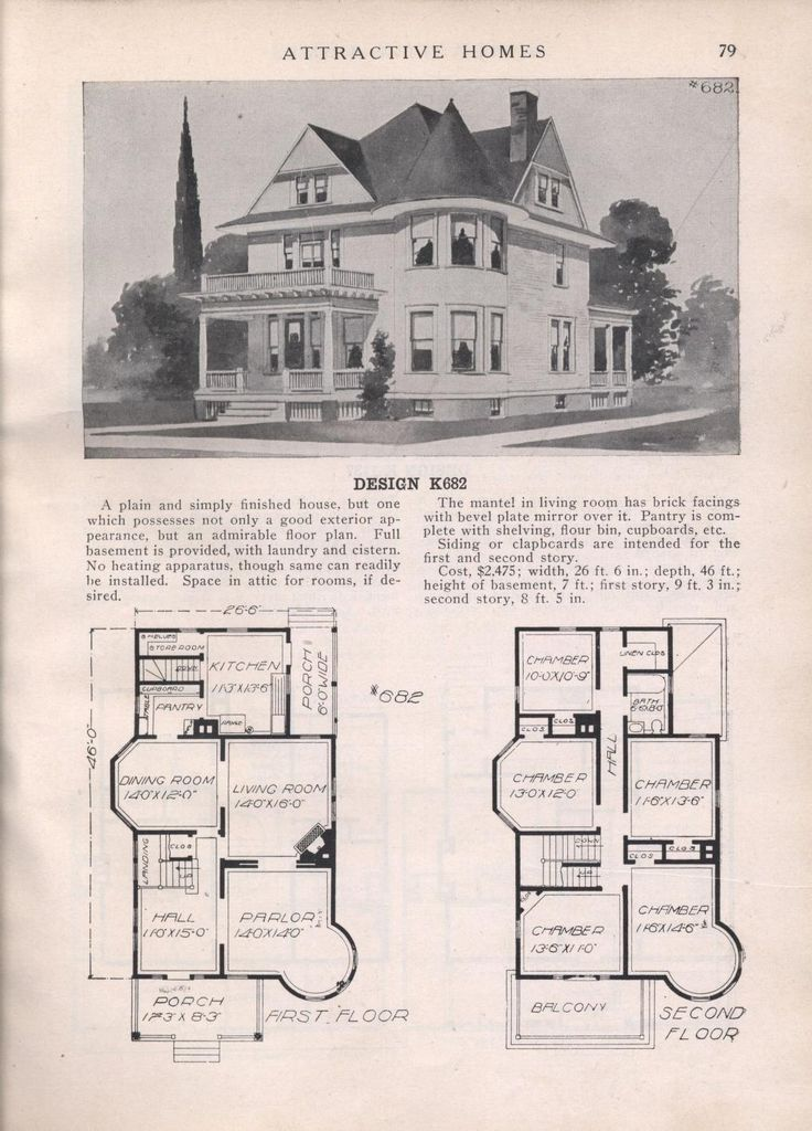 335 best old home plans images on Pinterest | Vintage houses ...