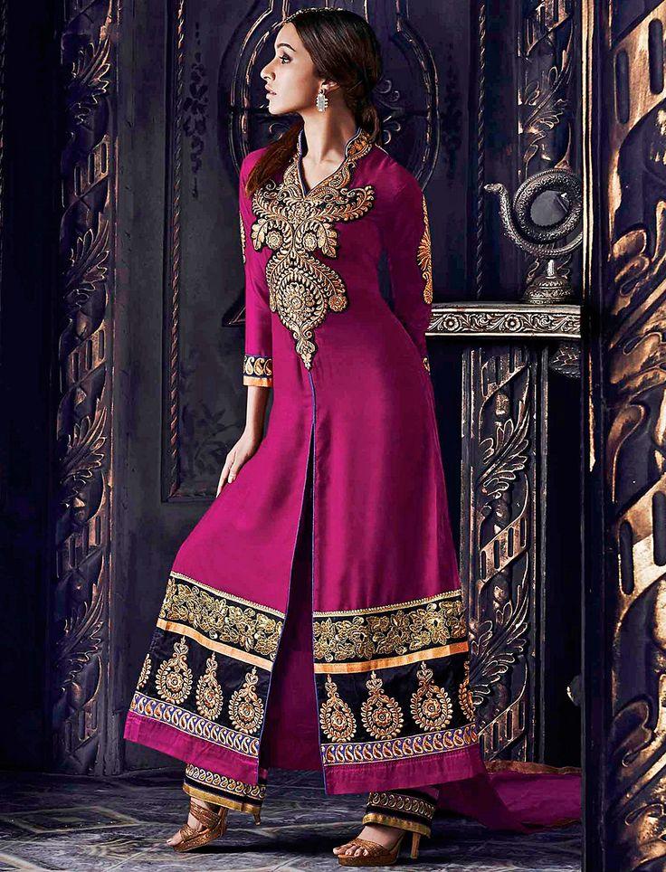 Bollywood Sharddha Kapoo-Designer Fancywork Wedding Salwar Suit