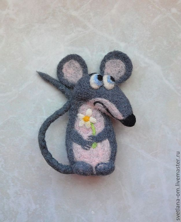 """Купить Валяная брошь """"Крыся"""" - валяная брошь, магнитик, оригинальный подарок, авторское украшение"""