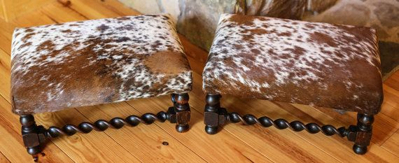 12 best cowhide ottoman images on pinterest cowhide ottoman