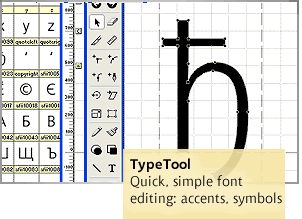 TypeTool  Font editor for beginners. Version 3.1 for Mac and Windows.
