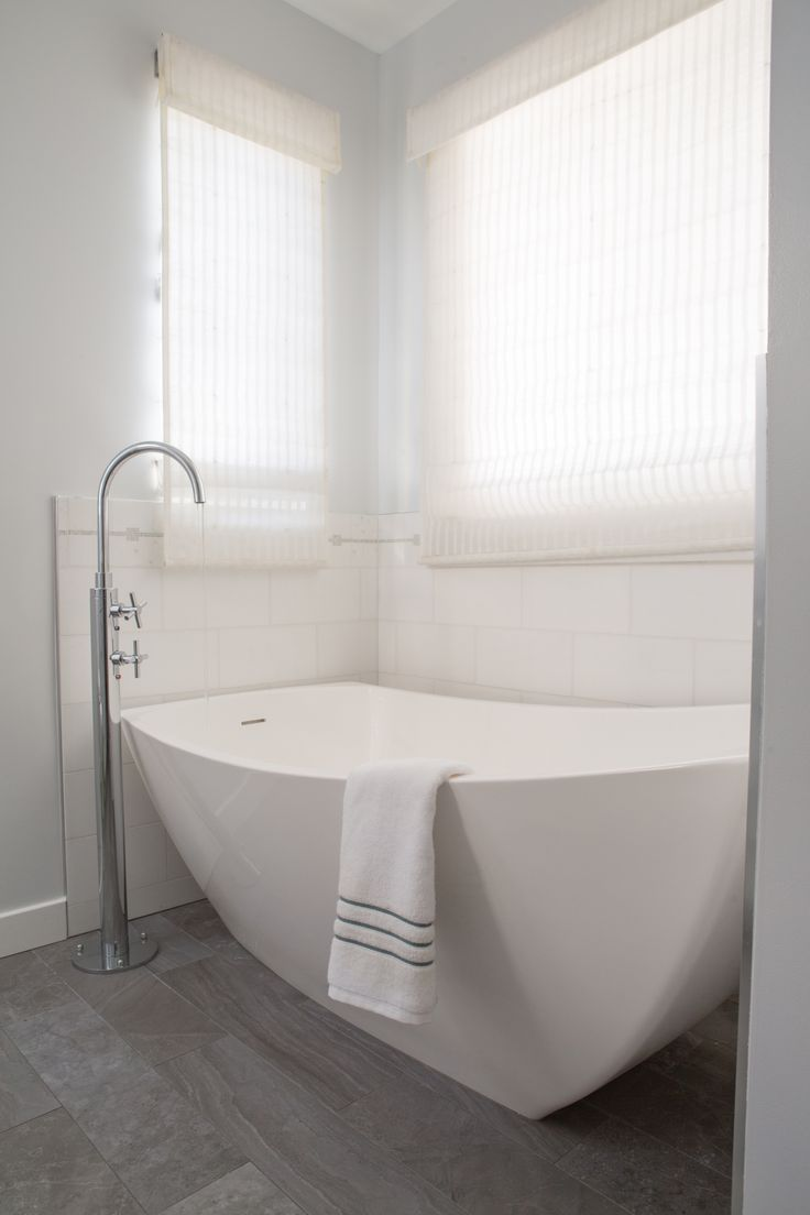 Average Size Master With Glass Shower Doors Bathroom: Free Standing Tub With Floor Mount Tub Filler