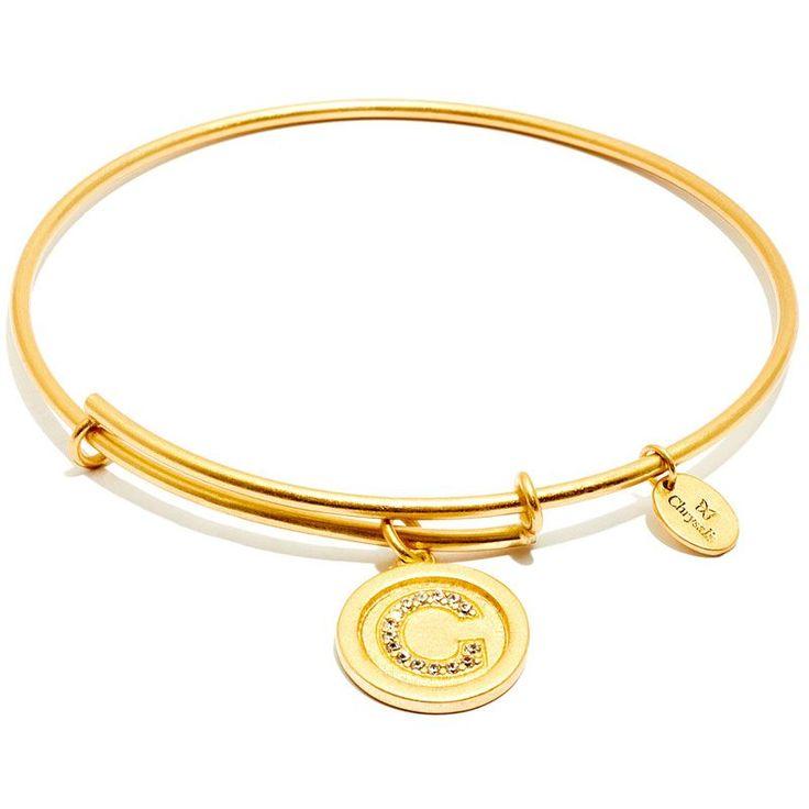 Chrysalis expandable letter C bangle from the Initials Collection  #Chrysalis #Bangle #Initials #Gold #Chrysalisbangle