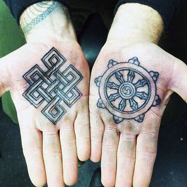 100 Palm Tattoo Designs For Men Inner Hand Ink Ideas Palm Tattoos Buddhist Tattoo Tattoo Designs Men