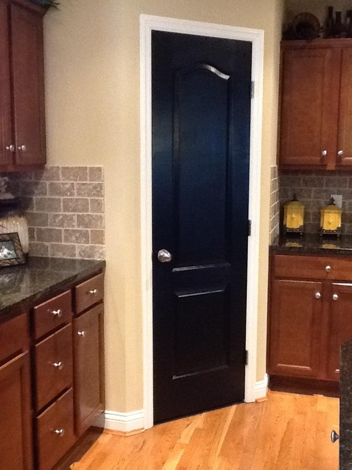 Black pantry door I will be painting our pantry door
