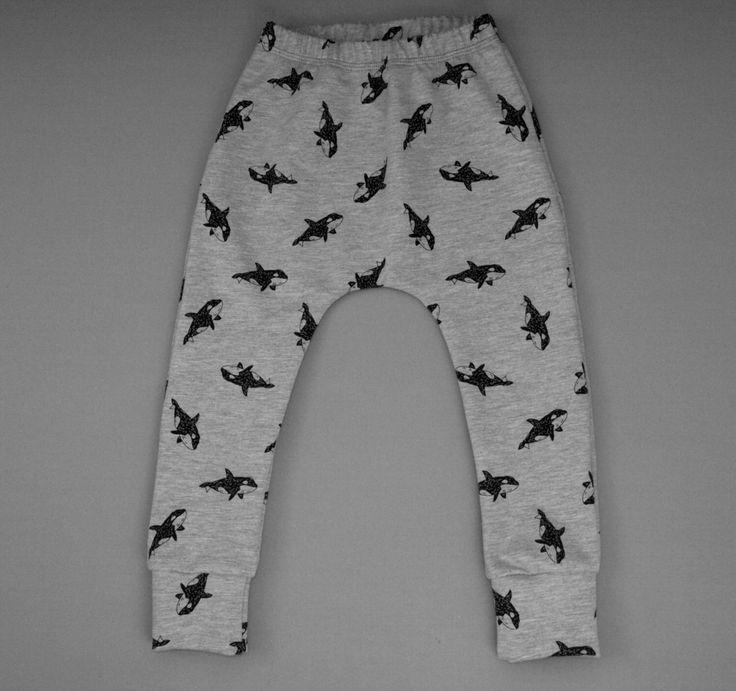 Grey Bat Baby Harem, Kids Shark Pants, Kids Arrow leggings, Killer Whale, Children's Star  leggings,  baby sweat pants , Baby Gift, unisex by BespokeKidsClothing on Etsy https://www.etsy.com/uk/listing/263132745/grey-bat-baby-harem-kids-shark-pants