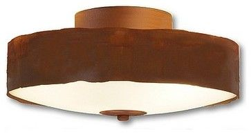 Rustic Ridgewood Flush Mount Ceiling Light Small - eclectic - ceiling lighting - Avalanche Ranch Lighting