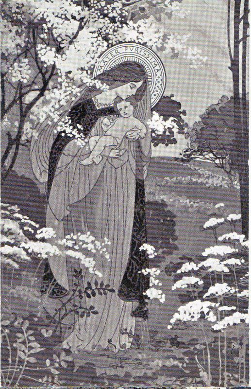 Mater Purrisima, Mother Most Pure from a series of 38 postcards dating from approximately 1915 to 1920 by Ezio Anichini
