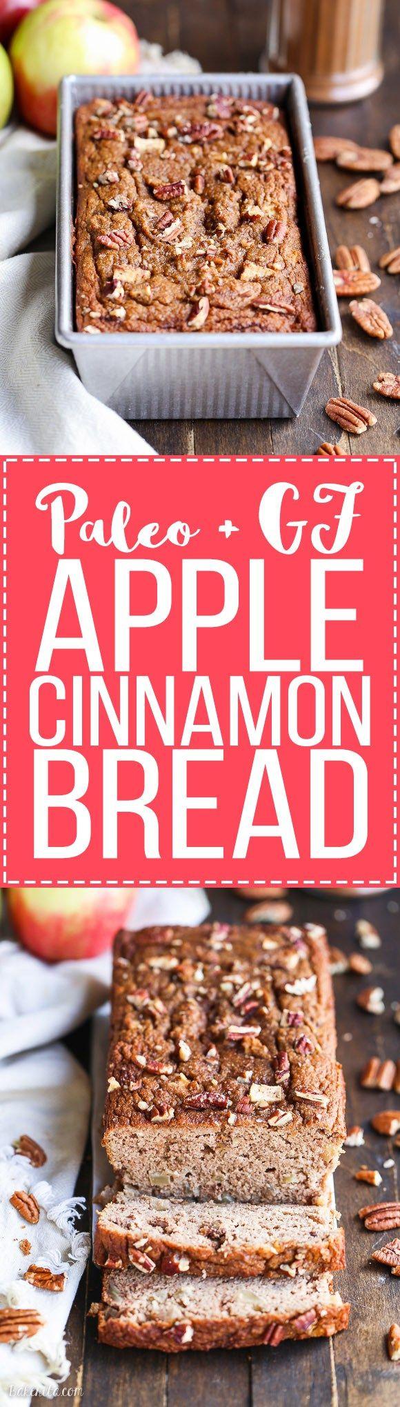Paleo Apple Cinnamon Bread Recipe {gluten-free, dairy-free}