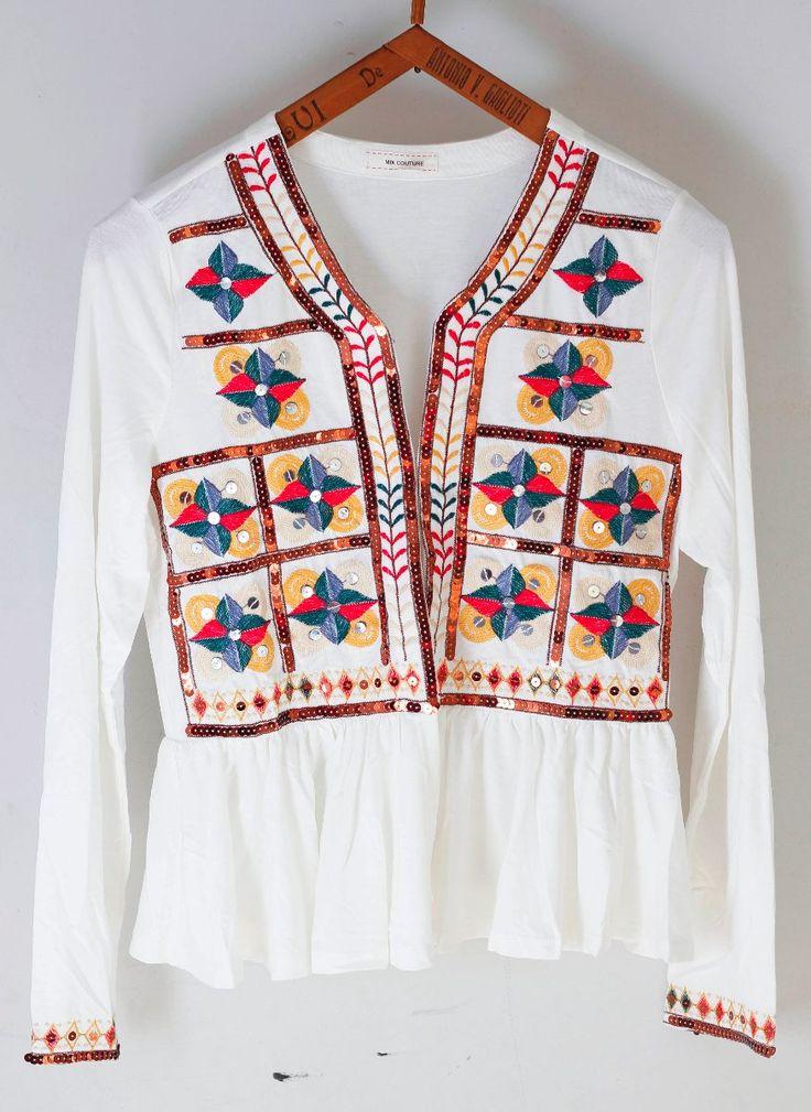 saquitos estilo rapsodia bordados blazer hindu