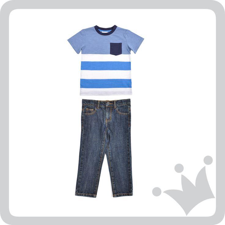 Los jeans son una prenda básica que siempre van bien y a los niños les encanta