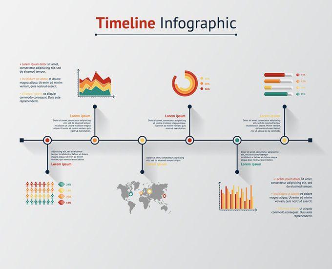商务信息流程图矢量素材