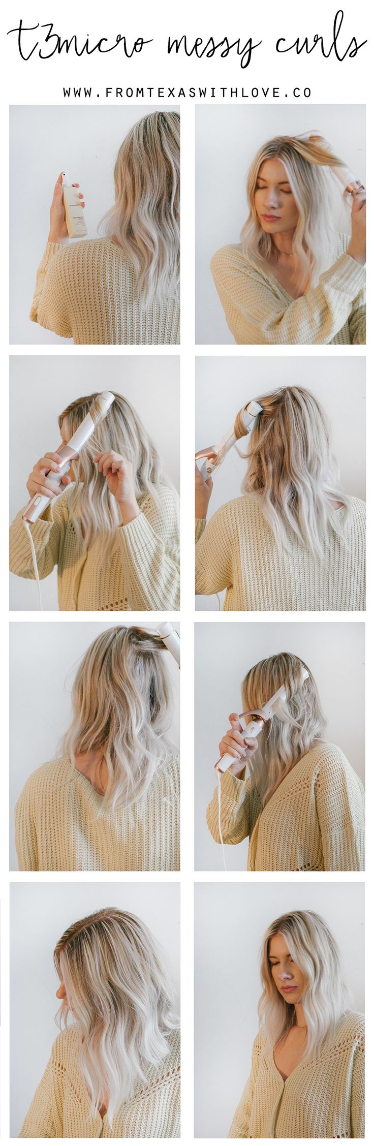 Messy Curls Tutorial - From Texas with Love by Sara Rash