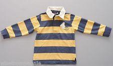 Tee-shirt polo manches longues rayé jaune bleu Sergent Major 5 ans garçons