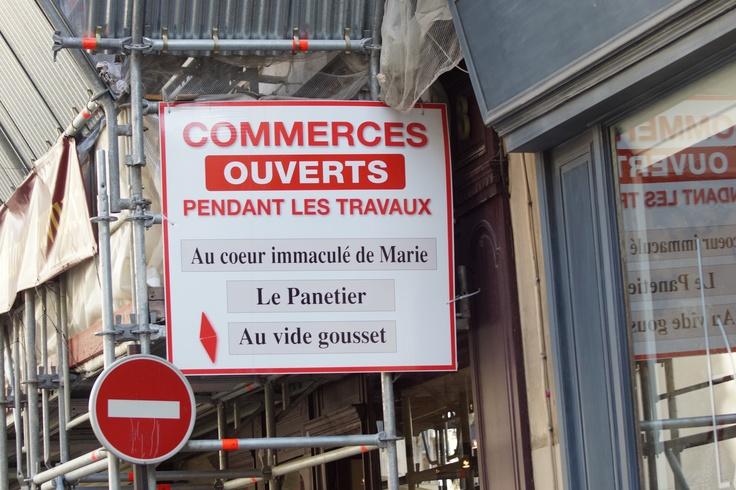 Commerce #humour #Paris - Septembre 2012 - Photo by Sand ;)