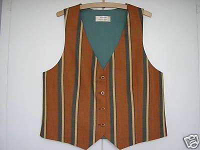 """Ladies Brown Striped Waistcoat 34"""" - 36"""""""