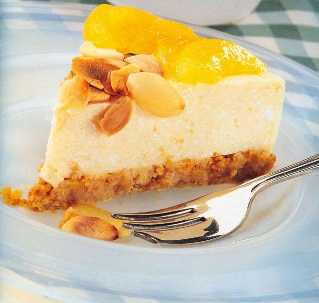 Cheesecake de melocotón thermomix