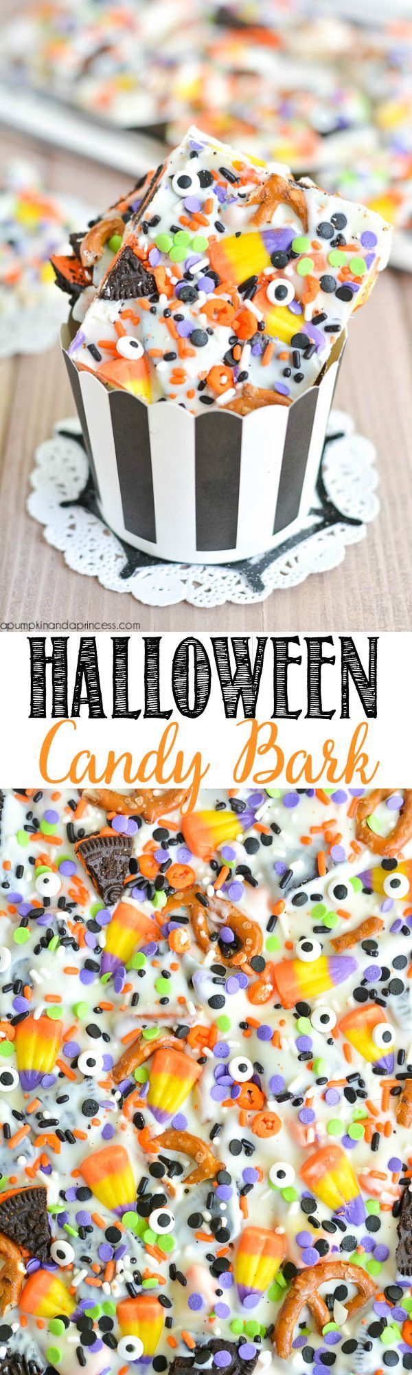 Halloween Candy Bark from MichaelsMakers A Pumpkin and a Princess