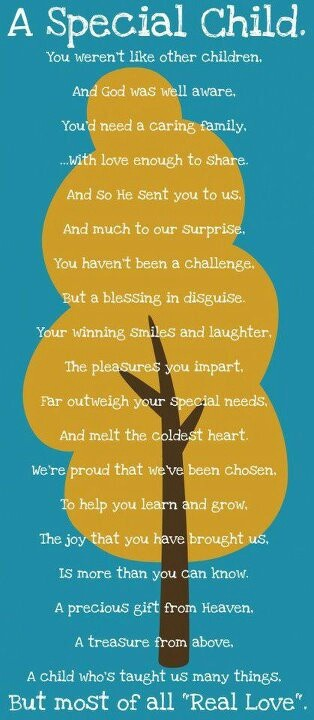 I love this poem. Reminds me if how special we are for having a girl with Rett syndrome.