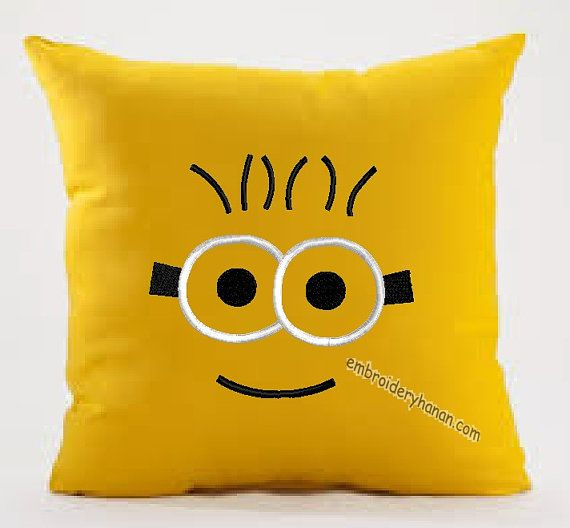 MINION APPLIQUE design machine embroidery 5x7 Instant Digital Download For only 3.99 dollar