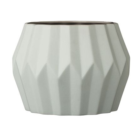 Geometric Pot in Soft Mint Green by Bloomingville available at Room and Bloom Homewares.
