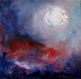 White Moon by Mihaela Ionescu