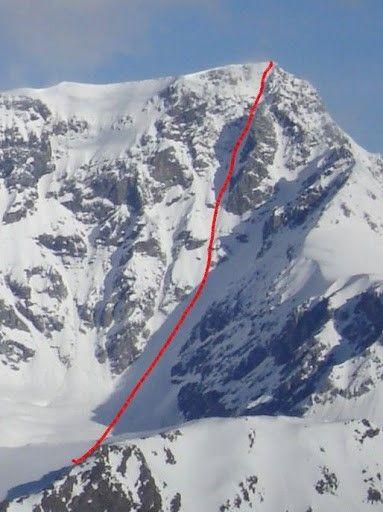 Die Südostwand des Ortler in Südtirol wird von der # ...
