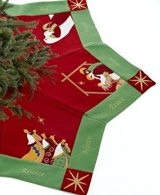 Jabara Christmas Tree Skirt, Nativity Scenes
