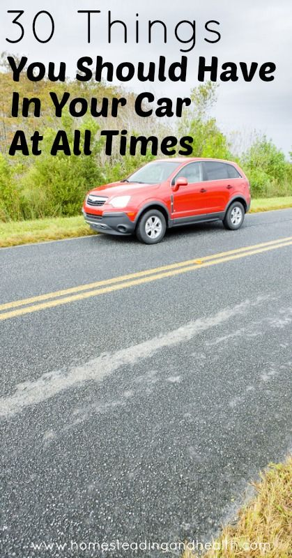 30 Things You Should Have In Your Car At All Times (my favorite tip is the duct tape... check out the repairs that have been made with it!)