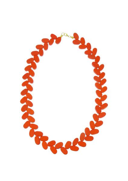 Fall of Vine Necklace - Orange  39.95 A subtle but colourful addition to your summer wardrobe, this fall of vine necklace is a staple. This necklace adds and instant pop to your outfit, crafted from painted wooden beading.  #leethalfashion #accessories