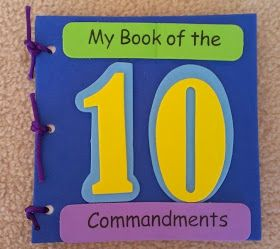 Petersham Bible Book & Tract Depot: My Book of the Ten Commandments Craft Kit