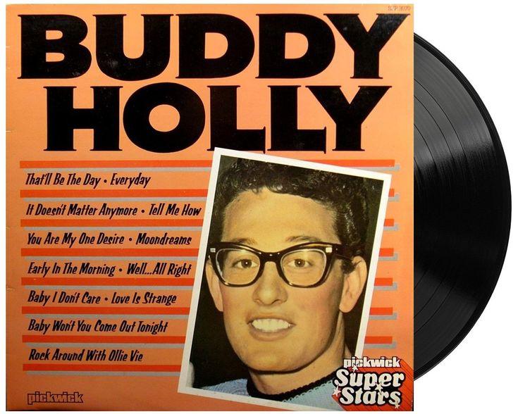 Buddy Holly Vintage Vinyl Lp Record Album Uk Pickwick Super Stars Buddy Holly Record Album Buddy