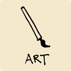 art, paint, brush