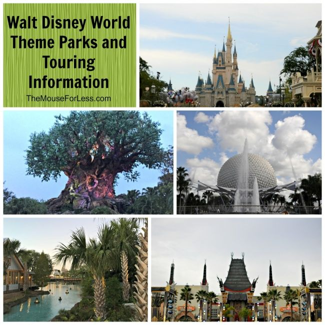 Walt Disney World Theme Parks and Touring information for Walt Disney World, Park Touring Tips as well as information for Disney with Kids.