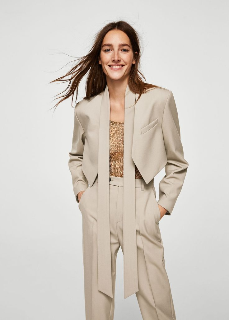 Ruched cropped jacket