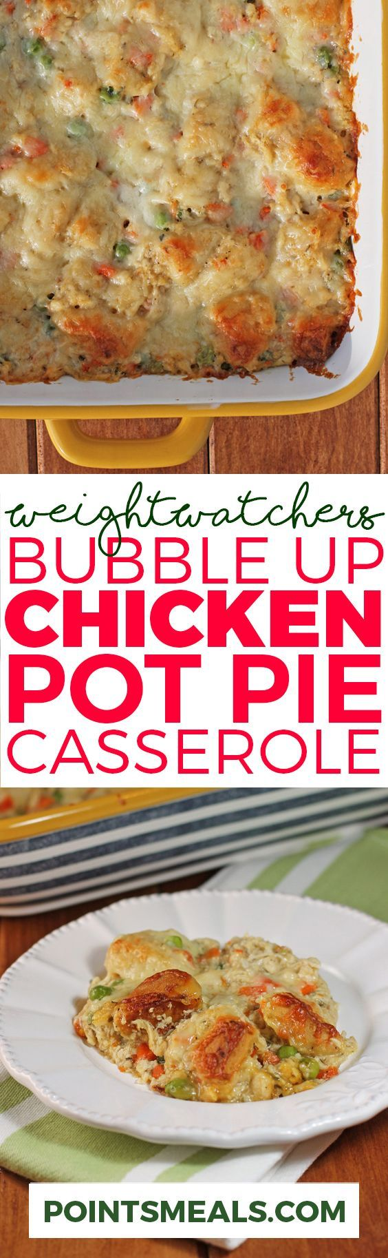 BUBBLE UP CHICKEN POT PIE CASSEROLE (WEIGHT WATCHERS SMARTPOINTS)